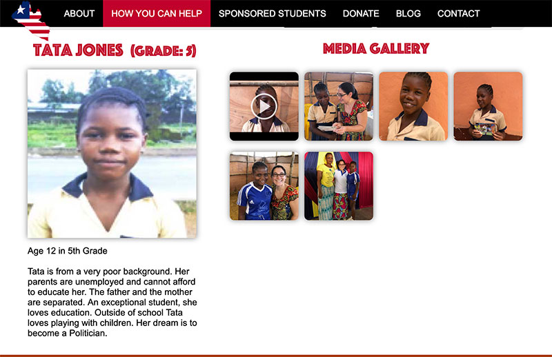 Video interviews and photos of our sponsored kids are now loaded on the website!
